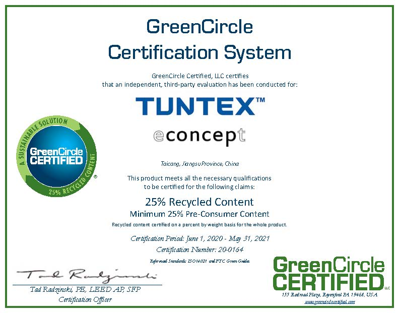 GreenCircle Recycled Content – Econcept Collection